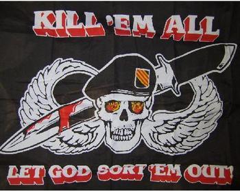 Kill em All Flag 5ft x 3ft Kill Em All Polyester Flag