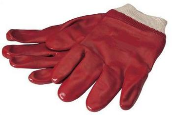Quality Red Pvc Coated Work Glove With Knitted Wrist
