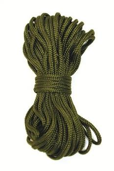 Olive Para Cord 15m of Round Paracord With Breaking Strain of Approx 50kgs