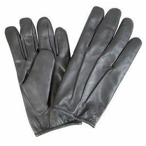 Quality Black Leather Gloves with Kevlar Lining