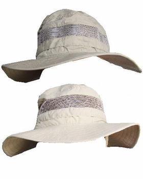 New Soft Feel outdoor trekker wide brim hat with Mesh Surround