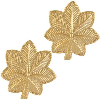 US Major Rank Gold badge sold in pairs