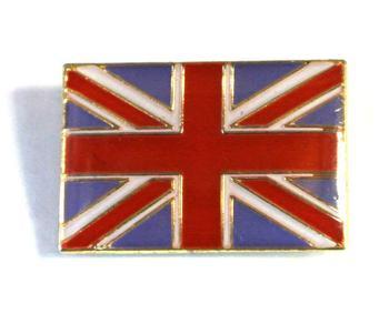 Union flag pin on lapel badge