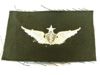 USAF Cloth Sew on Badge Medic Wings