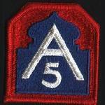US Army Cloth Badge 5th Army WW2 Style