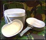 Genuine Army Issue Grey Billy Cookset