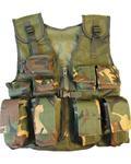 Children's Kids Woodland DPM Camo Multi Pocket Assult Vest