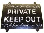 Private Keep Out Sign Great new Wooden Private Keep out sign