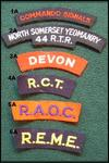Various British Cloth Shoulder Titles
