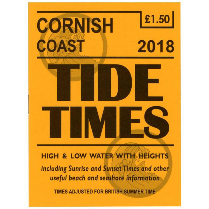 Tide Tables Cornish Coast 2018 Tide Timetables
