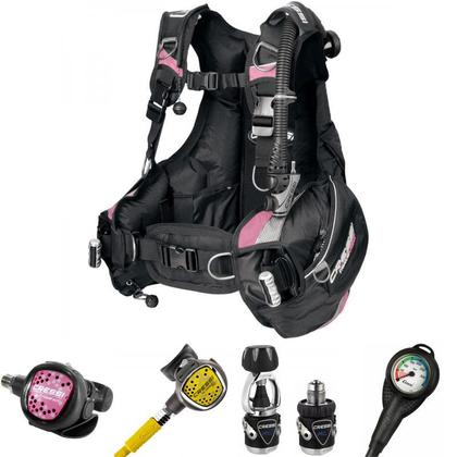 Cressi MC9 XS Compact Travel Light Ladies BCD and Reg Package