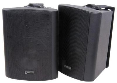 """QTX 45W Stereo Background Speakers 5.25"""" (Pair)"""