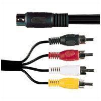 5 Pin Din Socket To 4x RCA Phono Plugs 0.2M