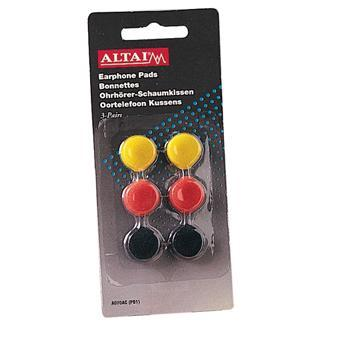 Colored 18mm Replacement Earphone Pads x 3 Pairs