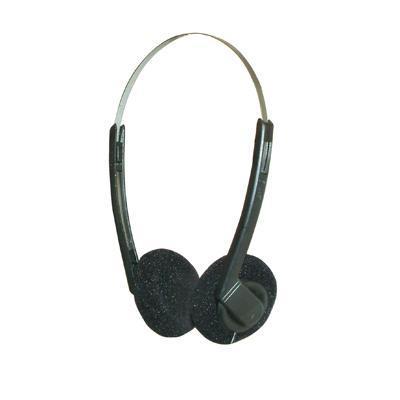 Black Stereo Headphones with Adjustable Headband