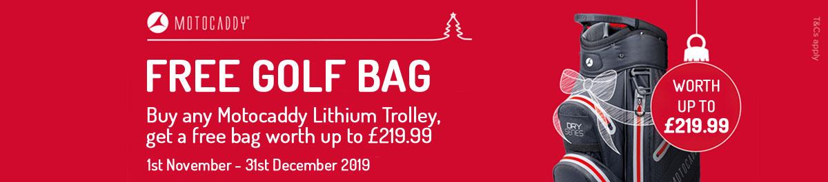 Motocaddy Christmas Free Bag Offer