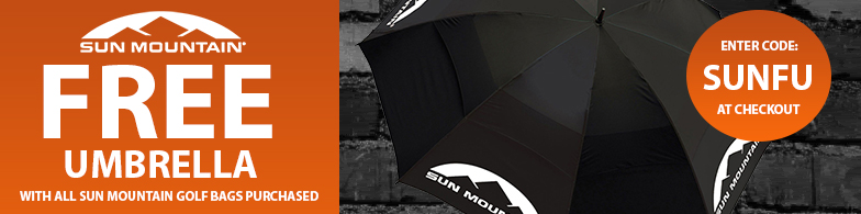 Free Umbrella with Sun Mountain Bags