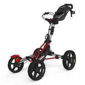 Clicgear 8.0 Golf Trolley - Silver/Red